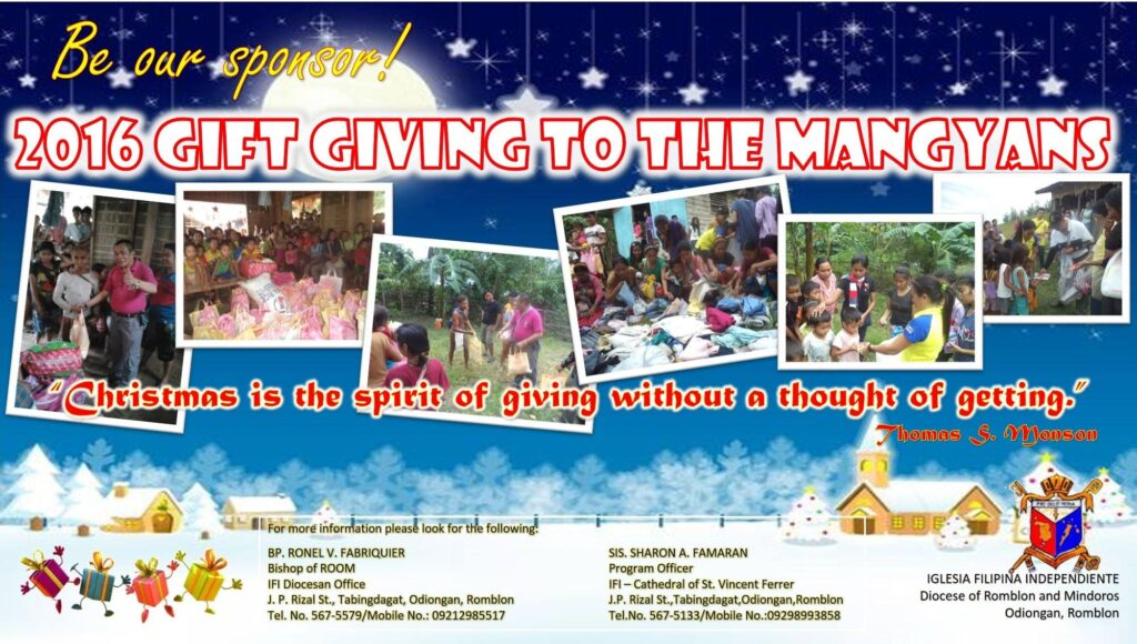 Gift Giving to the Mangyans