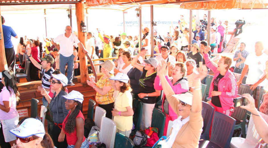 Activities during the Sea of Galilee Cruise