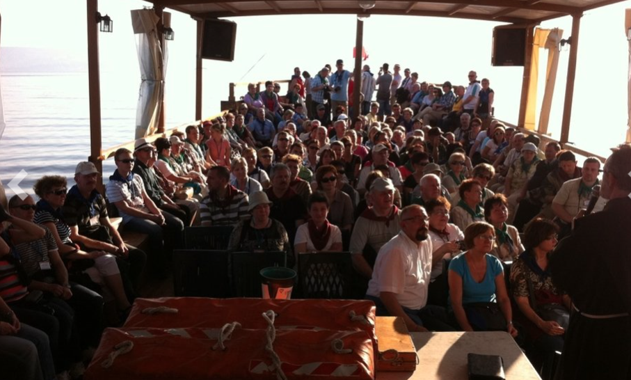 Group activities during the Sea of Galilee Cruise